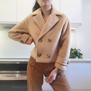 Double breasted camel jacket